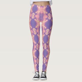 Soft pastels tie dye printed yoga leggings