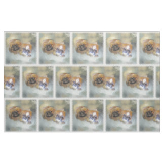 Soft Pekingese Duo Fabric