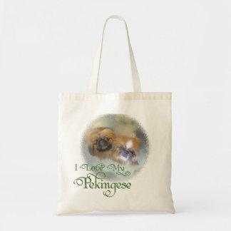 Soft Pekingese Duo Tote Bag
