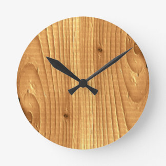 Soft Pine Classic Wood Grain Spruce Round Clock