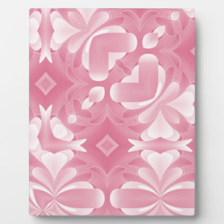 Soft Pink Abstract Hearts and Diamonds Plaque