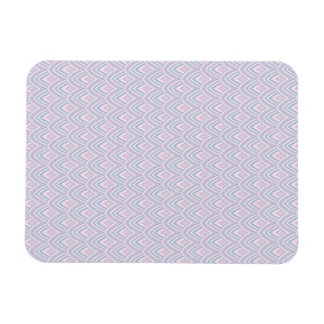 Soft Pink and Blue Scallops Rectangular Photo Magnet