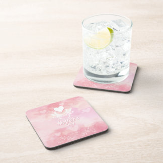Soft Pink and White Mother's Day Coaster