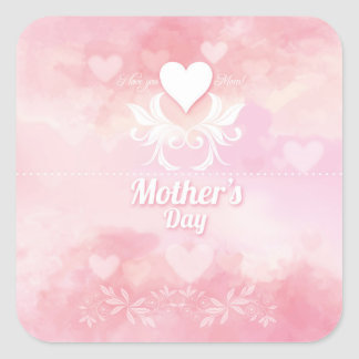 Soft Pink and White Mother's Day Sticker