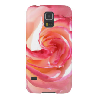 Soft Pink and White Rose Galaxy S5 Covers