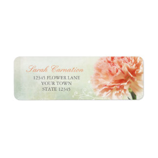 Soft Pink Carnation Return Address Label