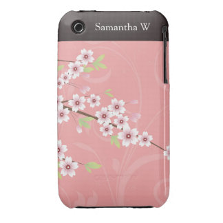 Soft Pink Cherry Blossom Case-Mate iPhone 3 Case