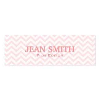 Soft Pink Chevron Film Editor Business Card