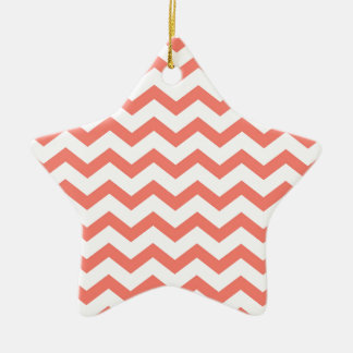 soft pink chevron strips ceramic ornament