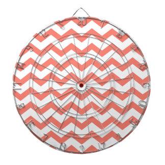 soft pink chevron strips dartboard