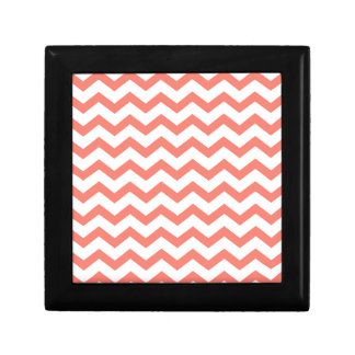soft pink chevron strips gift box