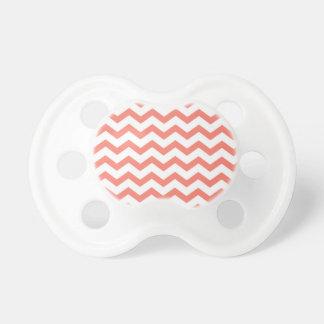 soft pink chevron strips pacifier