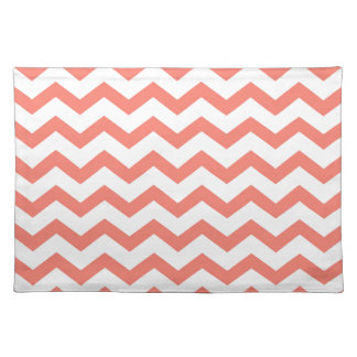 soft pink chevron strips placemat