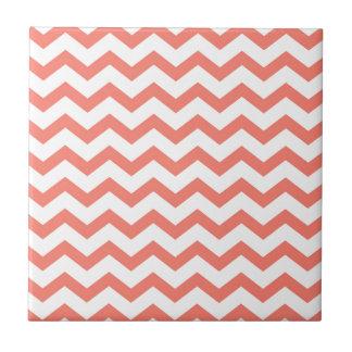 soft pink chevron strips tile
