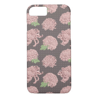 Soft Pink Chrysantemum Seamless Pattern iPhone 8/7 Case