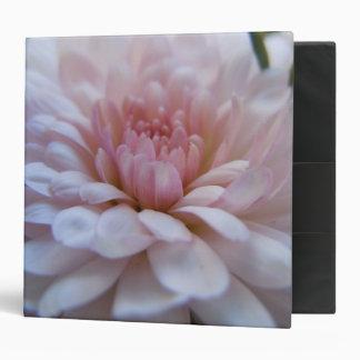 Soft Pink Chrysanthemum 3 Ring Binder