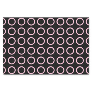 Soft Pink Circles Black Tissue Paper