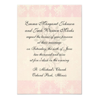 soft pink distressed damask pattern card