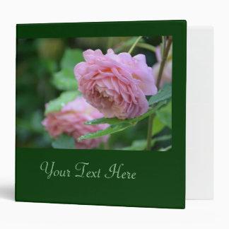 Soft Pink English Rose Binders