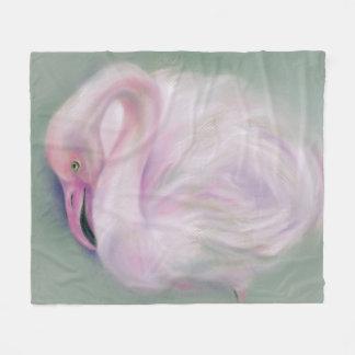 Soft Pink Flamingo Pastel Fleece Blanket