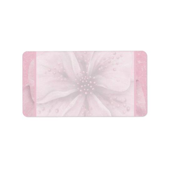 Soft Pink Floral Label