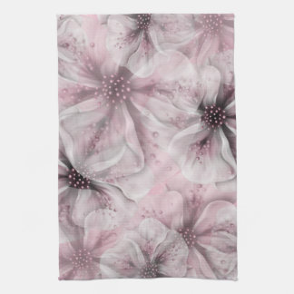 Soft Pink Flowers Kitchen Towel