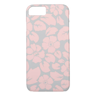 Soft Pink & Gray Floral iPhone 7 iPhone 7 Case