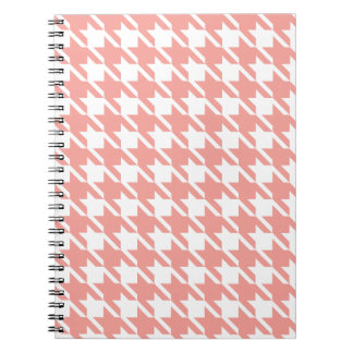 Soft Pink Houndstooth Notebook