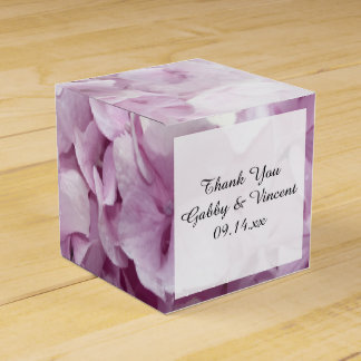 Soft Pink Hydrangea Floral Wedding Favor Box