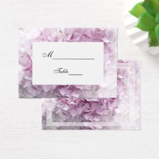 Soft Pink Hydrangea Flower Wedding Place Card