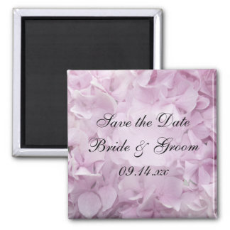 Soft Pink Hydrangea Wedding Save the Date Magnet