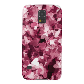 Soft Pink Kawaii Hearts Background Galaxy S5 Cover