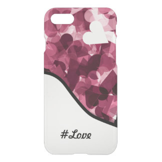 Soft Pink Kawaii Hearts Background #love iPhone 7 Case