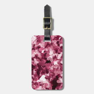 Soft Pink Kawaii Hearts Background Luggage Tag
