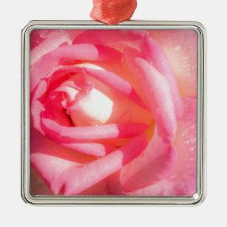 Soft Pink Metal Ornament