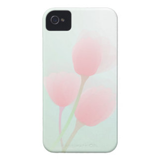 Soft Pink Pastel Tulips Wedding iPhone 4 Case-Mate Cases