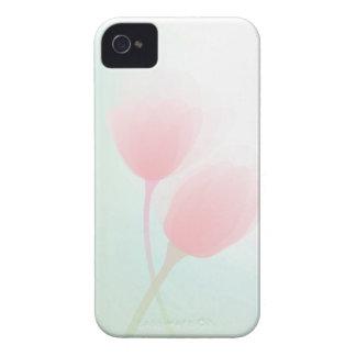 Soft Pink Pastel Tulips Wedding iPhone 4 Case-Mate Case