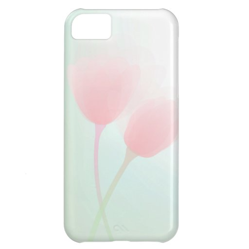 Soft Pink Pastel Tulips Wedding iPhone 5C Cases