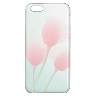 Soft Pink Pastel Tulips Wedding Case For iPhone 5C