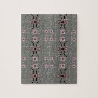 Soft Pink Pattern Gray Background Jigsaw Puzzle