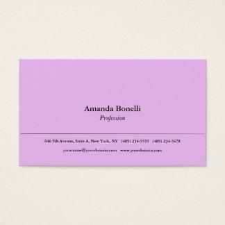 Soft Pink Plain Minimalist Elegant Professional Business Card