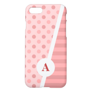 Soft Pink Polka Dots and Stripes iPhone 7 Case