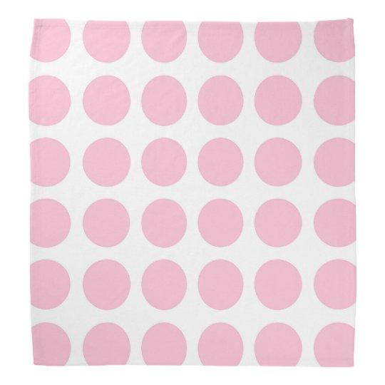 Soft Pink Polka Dots Bandana