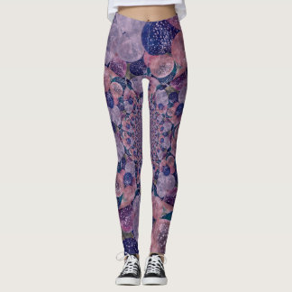 Soft Pink, Purple And Blue Kaleidoscope Balloons Leggings