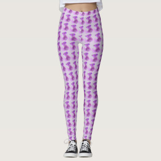 Soft pink & purple circles design pattern on pink leggings