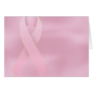 Soft Pink Ribbon Breast Cancer Greeting Card