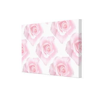 Soft Pink Roses on Premium Wrapped Canvas (Gloss)
