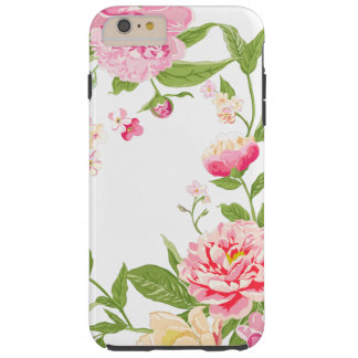 Soft Pink Roses Watercolors Illustration Tough iPhone 6 Plus Case