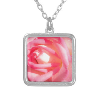 Soft Pink Silver Plated Necklace