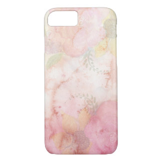 Soft Pink Watercolor Flowers, Apple iPhone 7 Case
